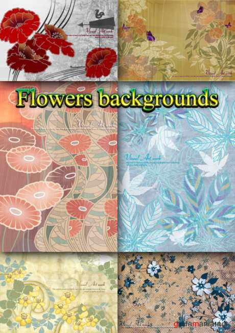 Flower backgrounds pack 25