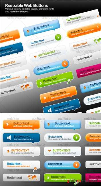 GraphicRiver Resizable Web Buttons