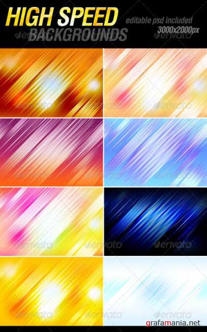 GraphicRiver High Speed Backgrounds