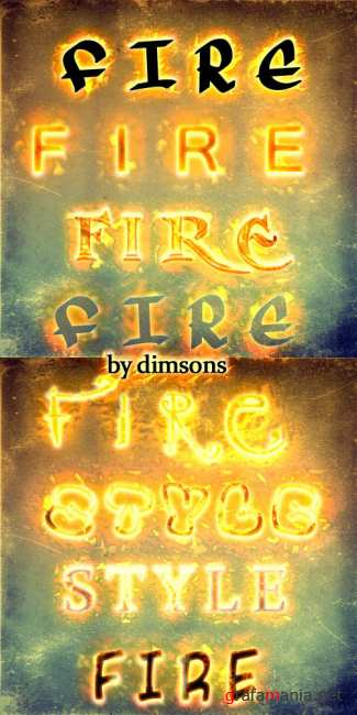 Fire text styles