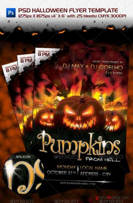 GraphicRiver PSD Halloween Flyer Template