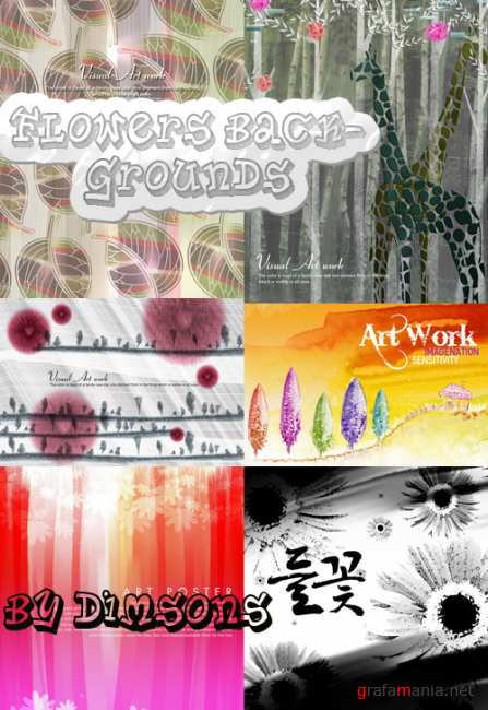 Flower backgrounds pack 31