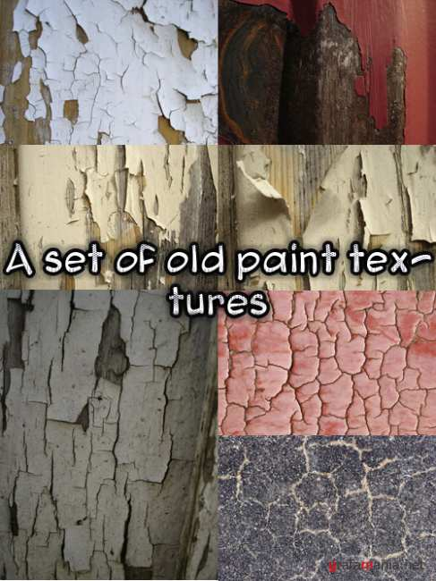 A set of old paint textures
