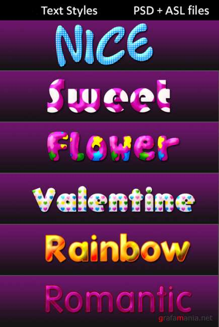 Sweet flowers text styles