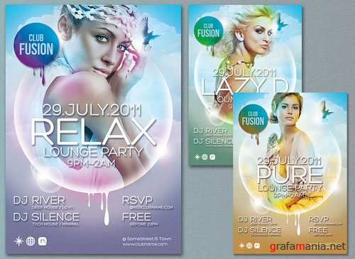Relax Lounge Party Flyer