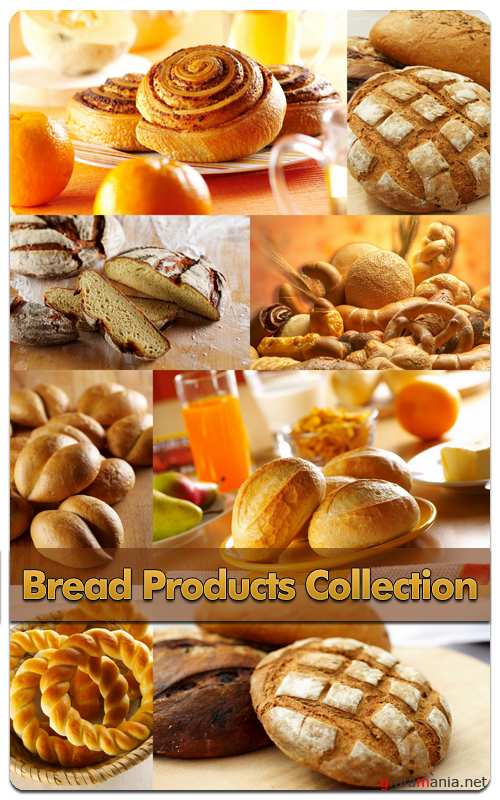 Bread Products Collection - Stock Photo