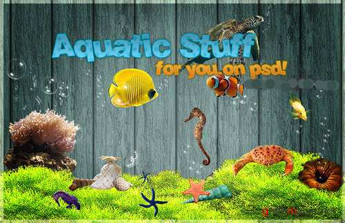 Psd file aquatic life