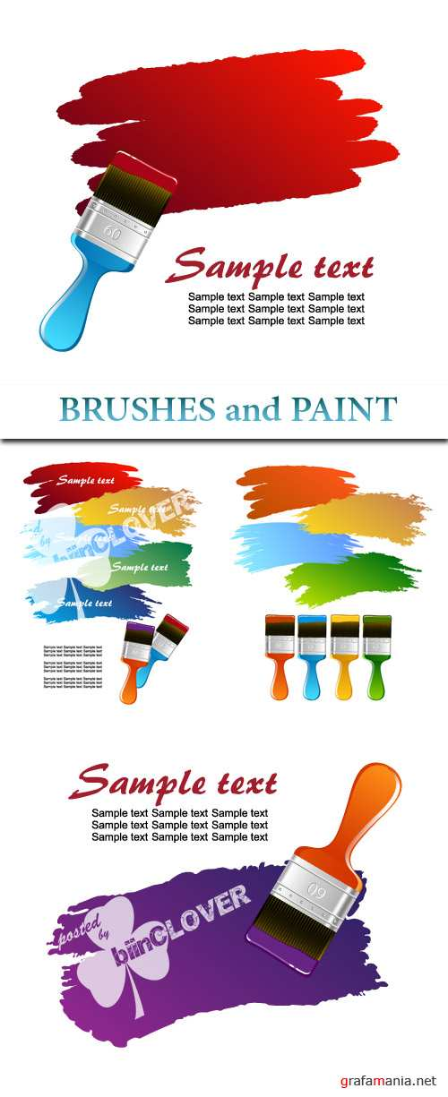 Brushes and paint
