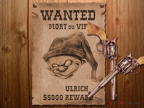 Wanted Psd File