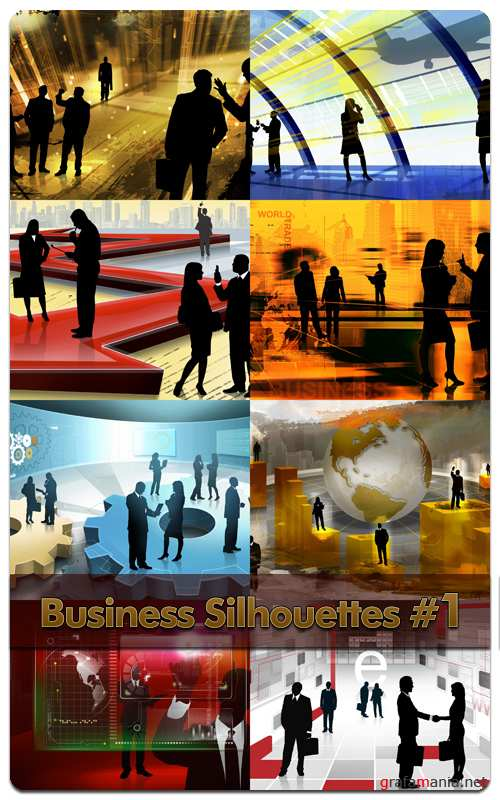 Business Silhouettes #1 - Stock Photo