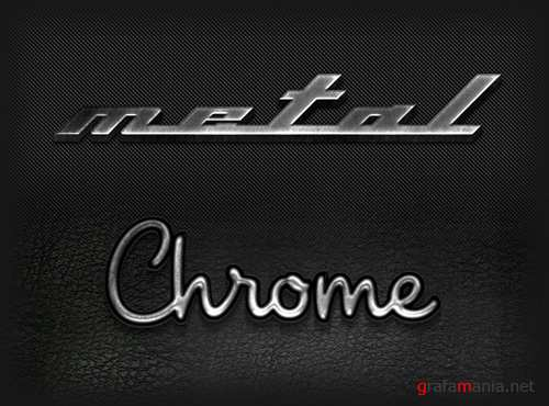 Metal Chrome Text Effect
