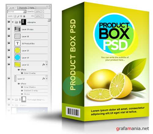 Product Box (PSD)