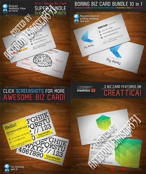 GraphicRiver Boring Business Card Bundle 10 in 1