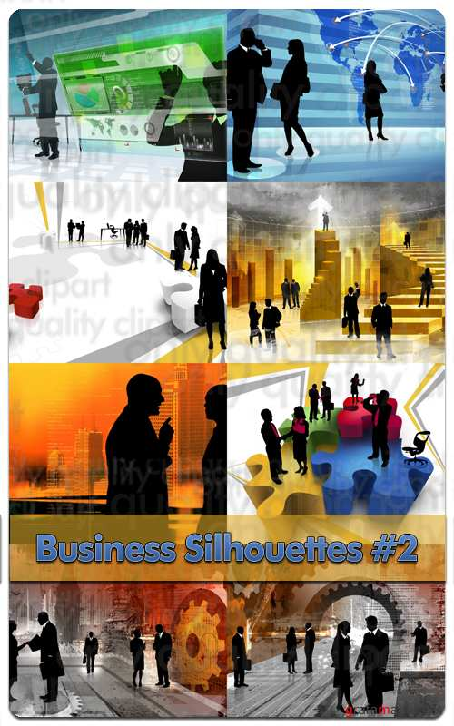 Business Silhouettes #2 - Stock Photo Professional