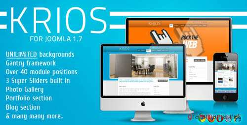 ThemeForest Krios Template for Joomla