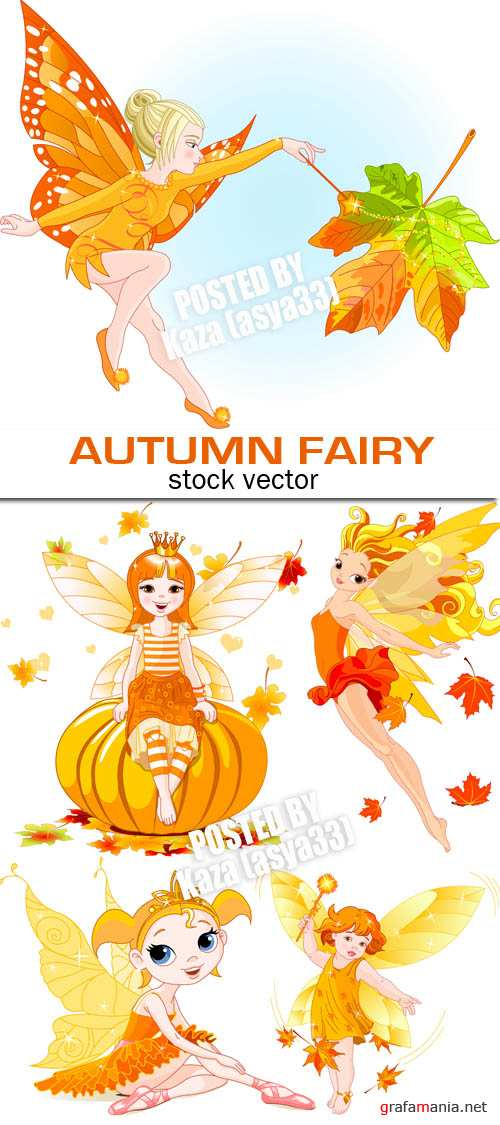 Little autumn fairy