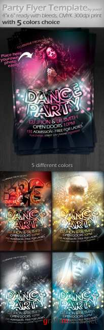 Party Flyer PSD Template