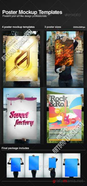 GraphicRiver Poster Mock-up Templates
