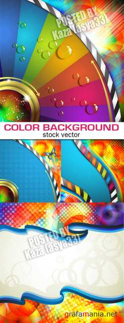 Color disk backgrounds