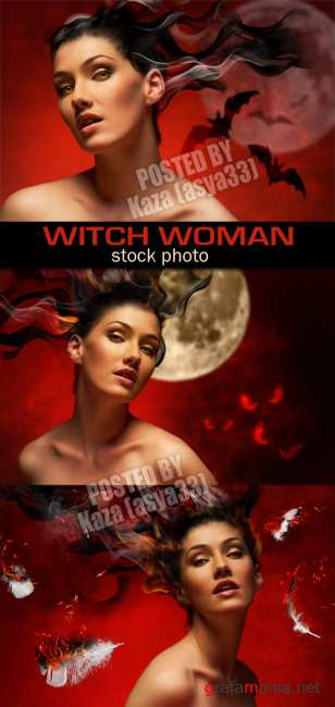 Fire witch woman