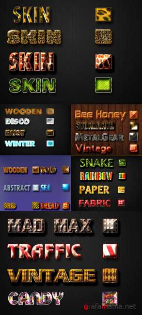 Text styles pack