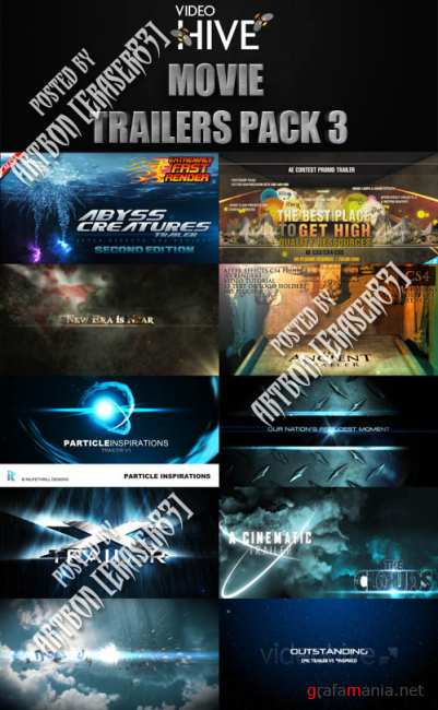 Videohive Projects - Movie Trailers Pack 3
