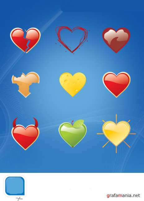 Package of 9 love psd