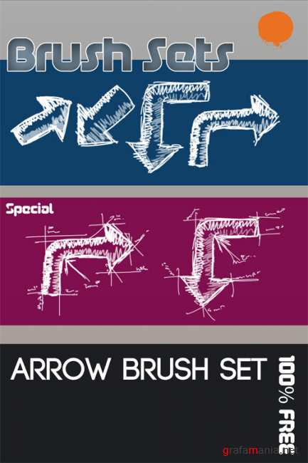 Arrow brush set