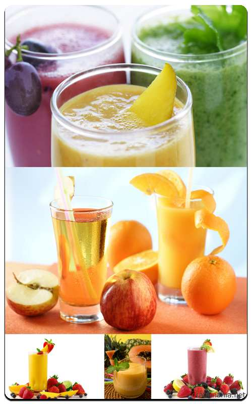 Profesional Photo Stock - Juice and Fruit
