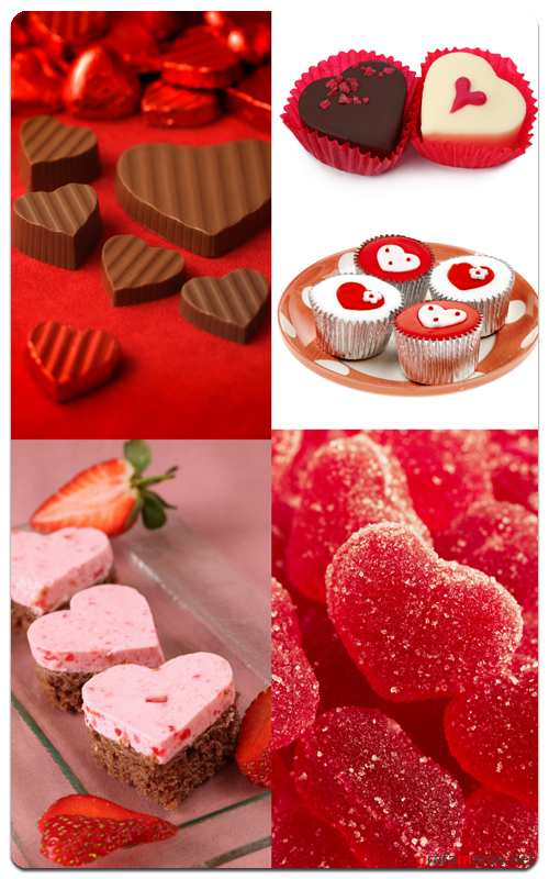 Sweets in the Shape of a Heart - Profesional Photo Stock