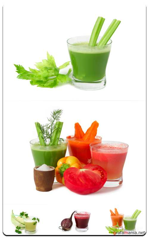 Juice with Vegetables - Profesional Photo Stock