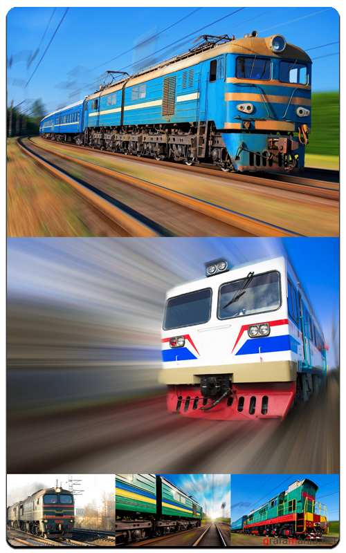Train In Motion - Profesional Photo Stock
