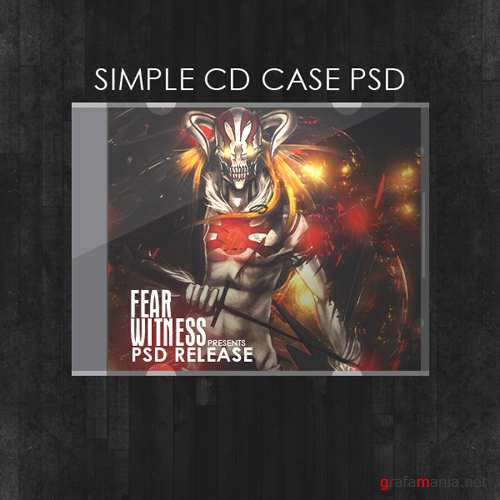 Simple Cd case psd