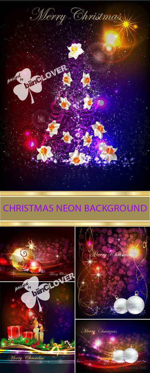 Christmas neon background 0017