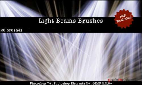 Light Beams Brushes