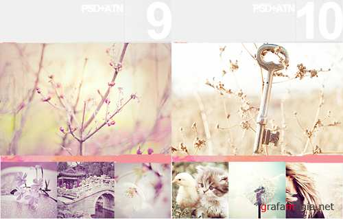 Photoshop Actions pack 9, 10