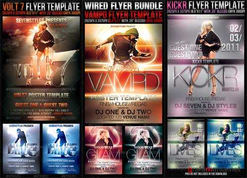 Graphicriver Wired Flyer Bundle