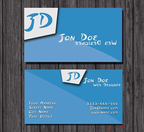 Blue Business Cards for Web Designers