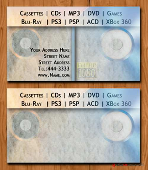 Audio and Video Shop - Business Cards