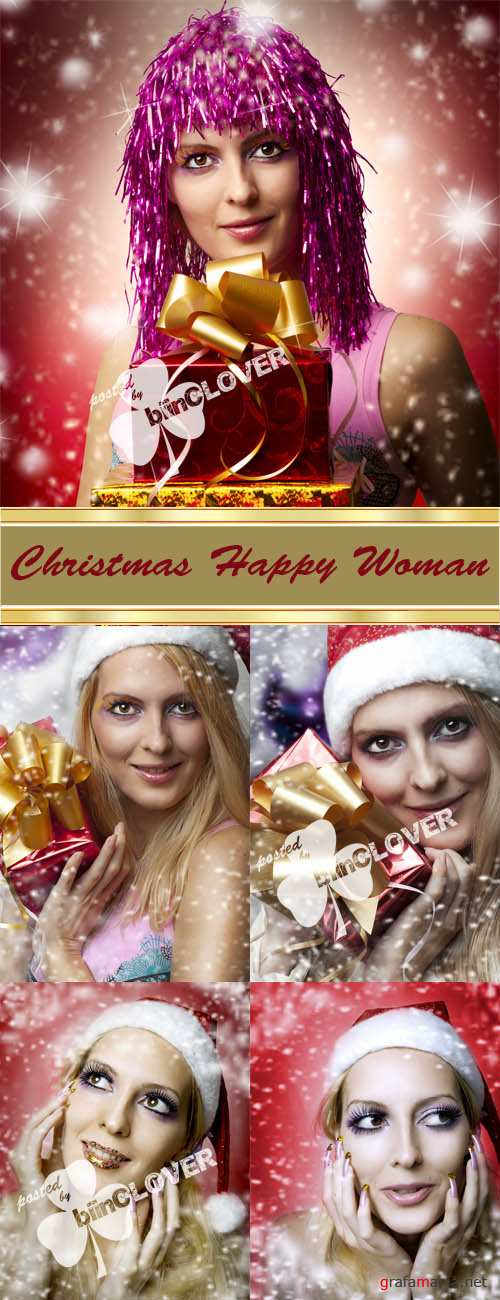 Christmas happy woman 0025