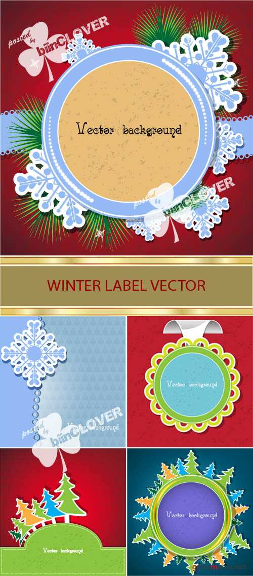 Winter label vector 0025