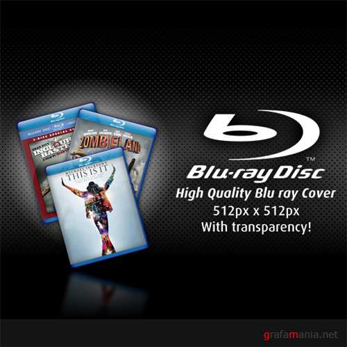 Blu ray Cover PSD