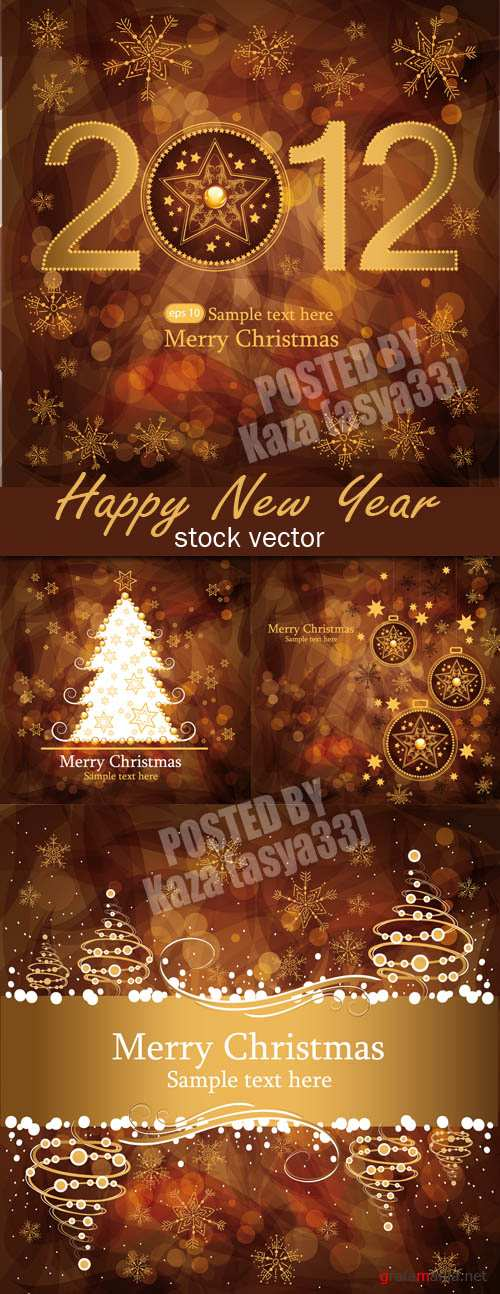 Beige New Year cards 2