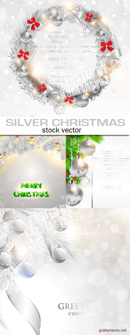 Silver Christmas cards