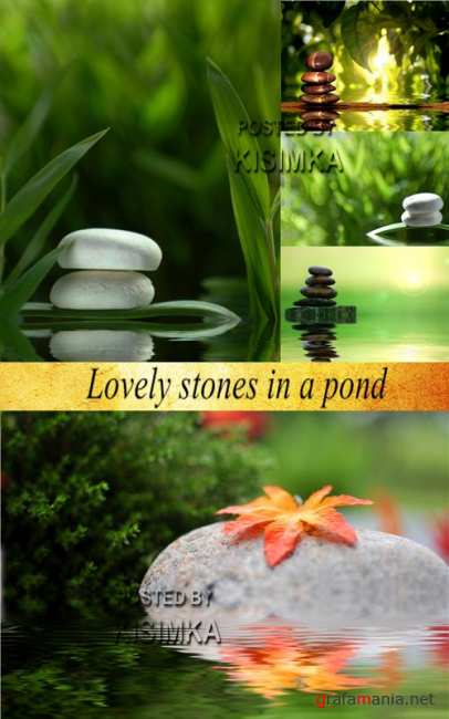Stock Photo: Lovely stones in a pond