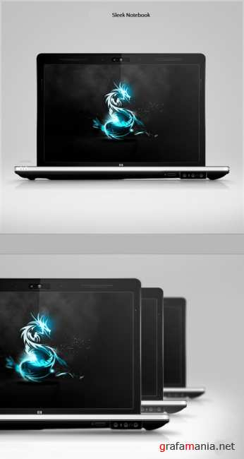 Sleek notebook free psd