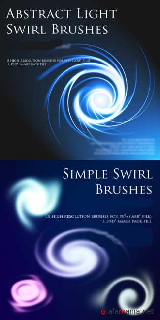 Abstract Light Swirl Brushes and Simple Swirl Brushes