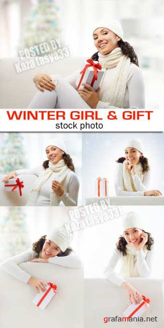 Winter girl & gifts