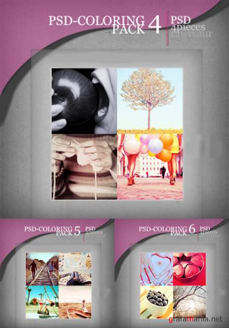 PSD Coloring action pack 4,5,6