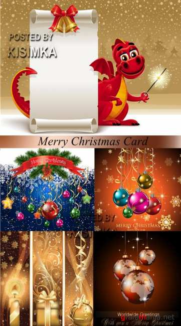 Stock: Merry Christmas Card 5
